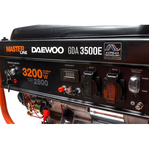 Бензиновий електрогенератор Daewoo GDA 3500E Master Line уцінка