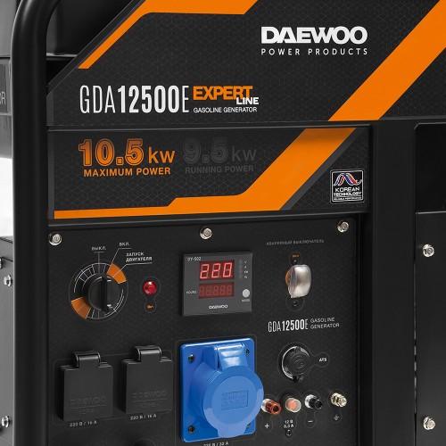 Бензиновий електрогенератор Daewoo GDA 12500E Expert Line